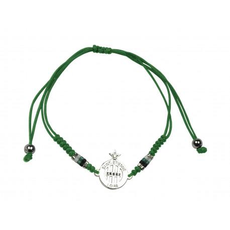 Bracelet ASSE vert logo ajouré Silver