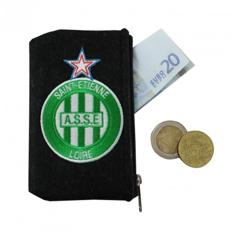 Porte monnaie ASSE feutrine noir