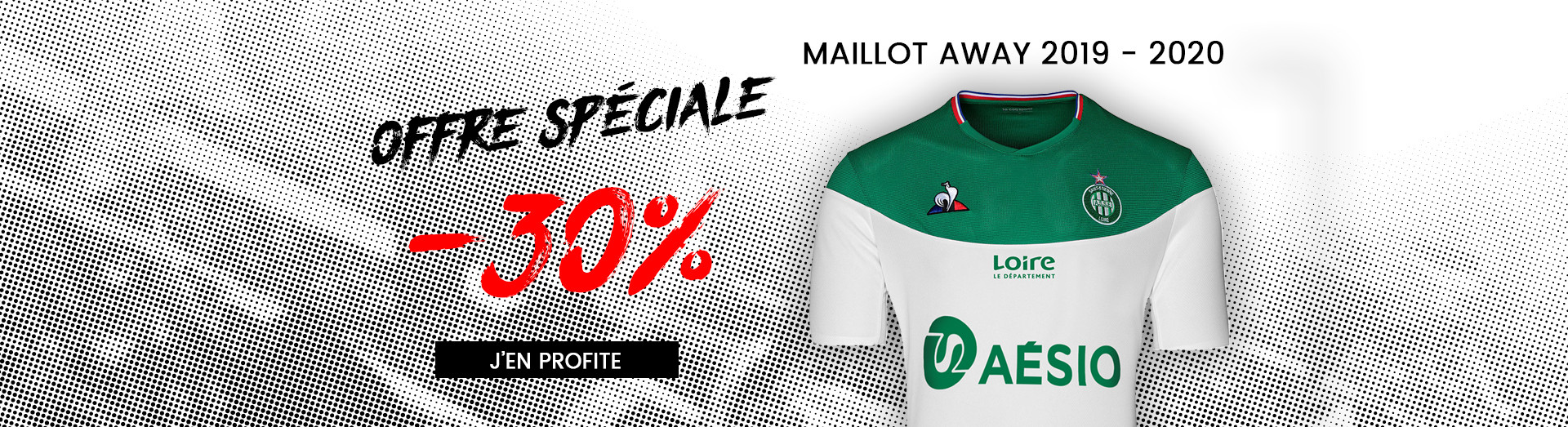 Maillots ASSE 2019 - 2020 Away Blanc